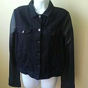 Rag and Bone Black Denim/Leather Jacket